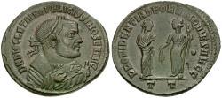 Ancient Coins - Diocletian, as Senior Augustus (AD 284-305) Æ Follis / Providentia and Quies