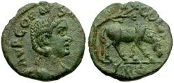 Ancient Coins - Salonina, Wife of Gallienus, Alexandria Troas Æ19 / Horse