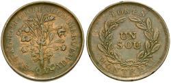World Coins - Canada. Lower Canada. Montreal Bouquet Rebellion Sou Æ Halfpenny Token