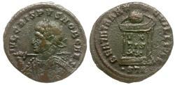 Ancient Coins - Crispus Caesar (AD 317-326) Æ3 / Globe on Altar