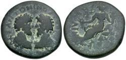 Ancient Coins - Marcus Aurelius (AD 161-180) with Lucius Verus (AD 161-169). Judaea. Aelia Capitolina (Jerusalem) Æ23