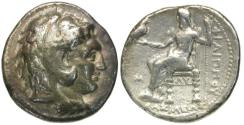 Ancient Coins - Kings of Macedon. Philip III Arrhidaios (323-317 BC) AR Tetradrachm / Zeus enthroned