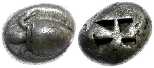 Ancient Coins - VF/VF Aegina AR Stater / Tortoise