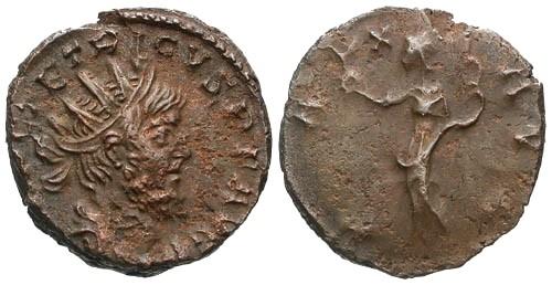Ancient Coins - VF/F Tetricus I AE Antoninianus