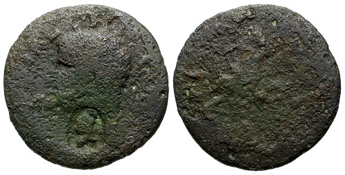 Ancient Coins - aF/aG Agrippa AS / Neptune / Counterstamp