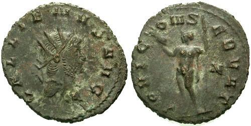 Ancient Coins - VF/VF Gallienus Antoninianus / Jupiter / Unlisted in RIC