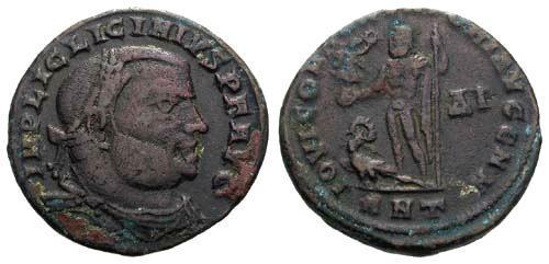 Ancient Coins - F/F Licinius AE20 / IOVI R5