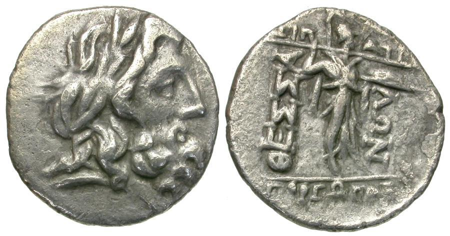 Ancient Coins - Thessaly. Thessalian League AR Stater or Double Victoriatus / Athena