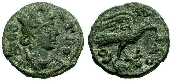 Ancient Coins - VF/VF Troas Alexandria Æ20 / Tyche / Eagle