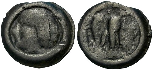 Ancient Coins - VF/VF Carnutes Tribe Potin / Eagle R