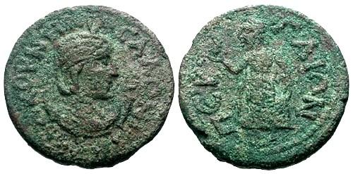 Ancient Coins - aVF/aVF Salonina Pamphylia Perga AE29 / Elpis