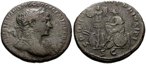 Ancient Coins - aVF/aVF Trajan AE As / Dacia