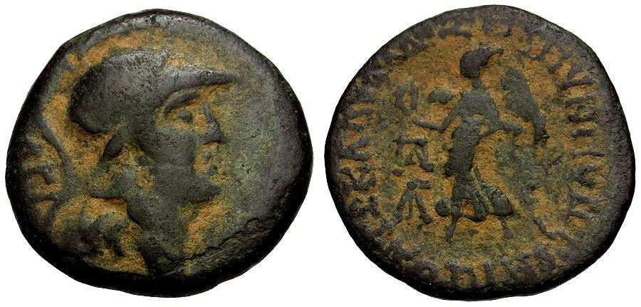 Ancient Coins - Cilicia.  Seleukia ad Kalykadnum Æ22 / Athena / Nike