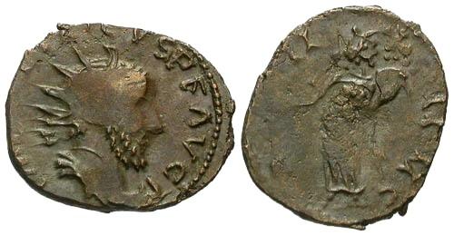 Ancient Coins - F/F Barbarous Tetricus Antoninianus