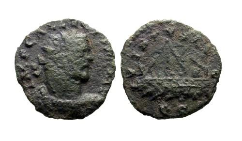Ancient Coins - gF/gF Allectus Quinarius London Mint