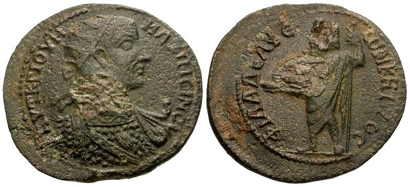 Ancient Coins - Maximinus, Cilicia Philadelphia Æ27 / Zeus