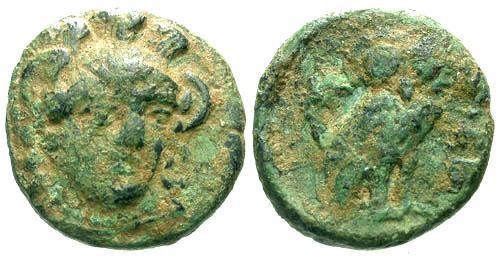 Ancient Coins - VF/EF Troas Sigeion AE13 / Owl