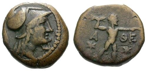 Ancient Coins - VF/aVF Attica Athens AE18 / Athena / Zeus