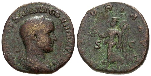 Ancient Coins - F/F Gordian III Sestertius / Great Gordian I Style Portrait!