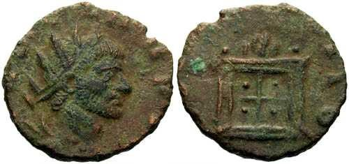 Ancient Coins - F Tiny Barborous Copy of Roman Bronze found in England