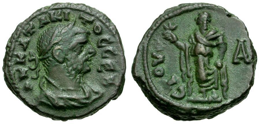 Ancient Coins - Tacitus. Egypt. Alexandria Æ Tetradrachm / Elpis