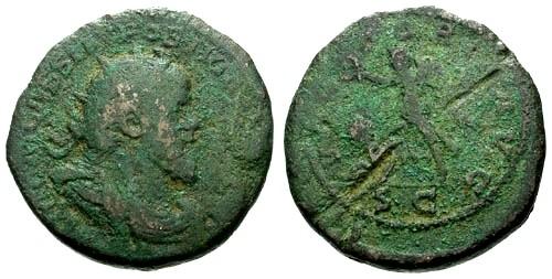 Ancient Coins - aVF/aVF Postumus AE Double Sestertius / Victory