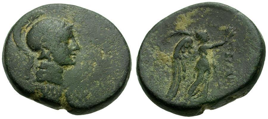 Ancient Coins - Mysia.  Pergamon Æ22 and 11 grams / Athena / Nike