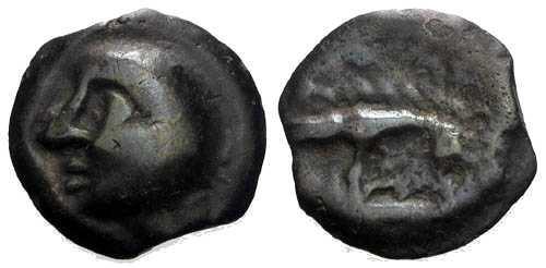 Ancient Coins - EF/VF Leuci Tribe / Bald Head Potin