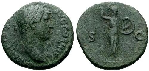 Ancient Coins - gF+/gF+ Hadrian AE AS / Minerva