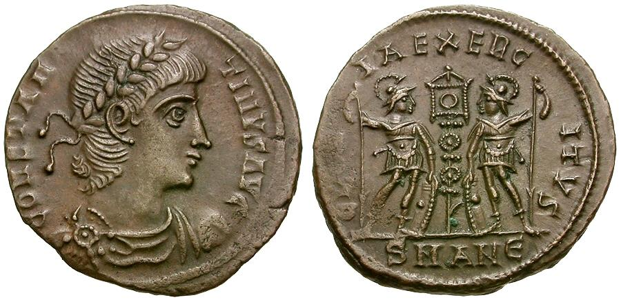 Ancient Coins - Constantine II, as Augustus (AD 337-340) Æ3 / Soldiers