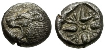Ancient Coins - Ionia.  Miletos AR 1/12 Stater / Lion