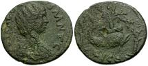 Ancient Coins - Julia Domna. Corinth Æ23 / Melikertes on Dolphin