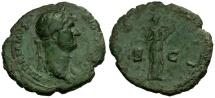 Ancient Coins - Hadrian Æ AS / Salus