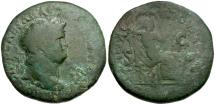 Ancient Coins - Nero Æ Dupondius / Securitas Seated