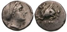 Ancient Coins - Corinthia. Corinth AR Drachm / Aphrodite