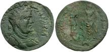 Ancient Coins - Valerian I. Cilicia. Irenopolis-Neronias Æ Octassarion / Hygeia and Asklepios