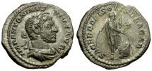 Ancient Coins - Elagabalus AR Denarius / Elagabalus Sacrificing