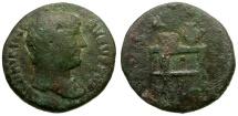Ancient Coins - Hadrian Æ Quadrans / Table