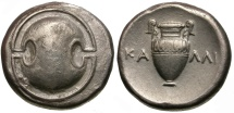 Ancient Coins - Boeotia. Thebes AR Stater / Ex CNG