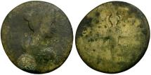 Ancient Coins - Sabina. Phrygia. Ancyra Æ21 / Cultus Statue of Artemis