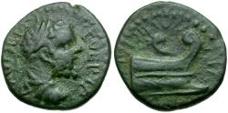Ancient Coins - Septimius Severus. Thrace. Coela Æ18 / Prow