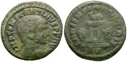 Ancient Coins - Constantine I the Great (AD 306-337) Æ Quarter Follis / Wisdom of the Prince