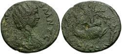Ancient Coins - Julia Domna. Corinth Æ23 / Melikertes on Dolphin