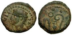 Ancient Coins - Augustus Æ Semis Spain Colony Patricia / Sacrificial Implements