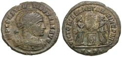 Ancient Coins - Constantine I the Great (AD 306-337) Æ3 / Two Victories with Shield