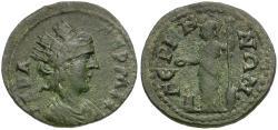 Ancient Coins - Lydia. Germe. Pseudo-autonomous Æ22 / Athena
