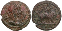 Ancient Coins - Moesia. Kallatis Æ18 / Eros Riding Lion