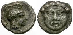 Ancient Coins - Pisidia. Selge AR Obol / Gorgon