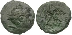 Ancient Coins - Kings of Macedon. Perseus (179-168 BC) Æ17 / Eagle