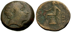 Ancient Coins - gF+/gF+ Seleukid Kings of Syria, Antiochos III Royal Æ22 / Apollo